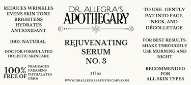 REJUVENATING SERUM NO. 3 Label